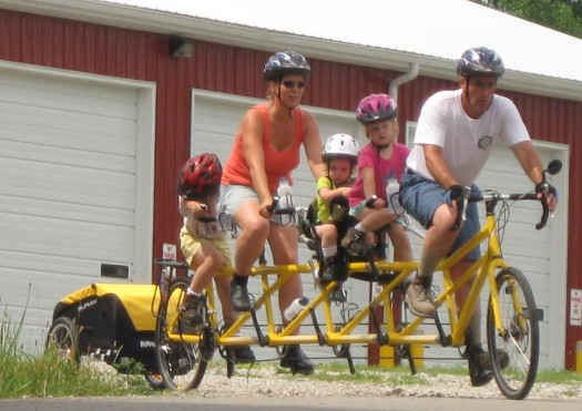 All Five on the Quint Bicycle