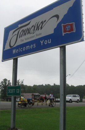 Crossing the line into Tennessee